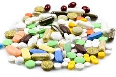 Pile des pilules et des capsules Images stock