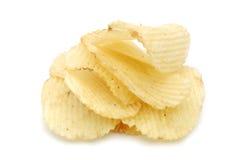 Pile des pommes chips Image libre de droits