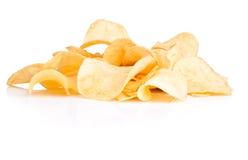 Pommes chips dans le bol en verre sur le fond blanc image stock image du calorie assiette - Verre pile piscine ...