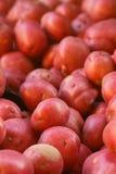 Pile des pommes de terre rouges Image stock