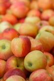 Pile des pommes rouges Photographie stock