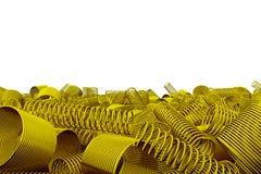 Pile des ressorts et des bobines en métal Photo libre de droits