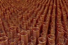 Pile des ressorts et des bobines en métal illustration de vecteur