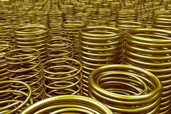 Pile des ressorts et des bobines en métal illustration libre de droits