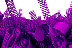 Pile des ressorts et des bobines en métal illustration stock