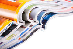 Pile des revues Image stock