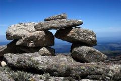 Pile des roches et du ciel Photographie stock