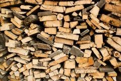 Pile des rondins en bois Photos libres de droits