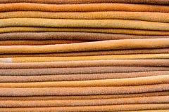 Pile des serviettes Photos stock