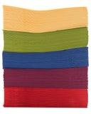 Pile des serviettes colorées Photo libre de droits
