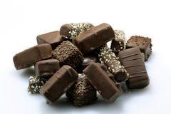 Pile des sucreries de chocolat Image stock