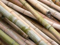 Pile des tiges en bambou Image libre de droits