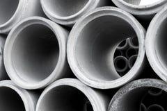 Pile des tuyaux concrets Images libres de droits