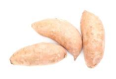 Pile des usines de patate douce d'isolement Photo stock