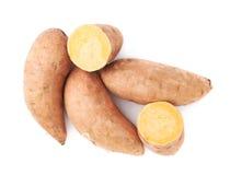 Pile des usines de patate douce d'isolement Image stock