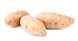 Pile des usines de patate douce d'isolement Photos libres de droits