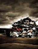 Pile des véhicules jetés Image libre de droits