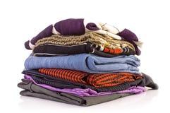 Pile des vêtements Photographie stock libre de droits