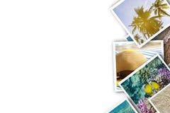 Pile des vacances d'apparence de photos, tropiques, mer, été, monde sous-marin illustration stock