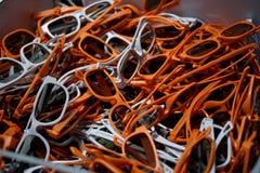 Pile des verres 3D Photos stock