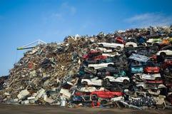 Pile des voitures d'occasion Photographie stock