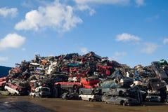 Pile des voitures d'occasion Images stock