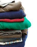 Pile des vêtements Images stock