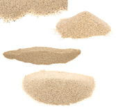 Pile desert sand isolated on white Stock Images
