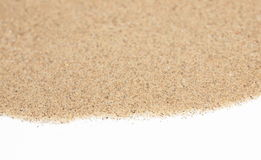 Pile desert sand isolated on white Royalty Free Stock Photos