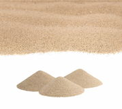 Pile desert sand isolated on white Stock Photography