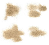 Pile desert sand isolated on white Royalty Free Stock Photography