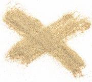 Pile desert sand on white background Stock Image