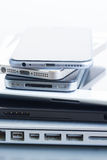 Pile of devices Stock Photos