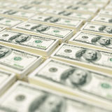 Pile di banconote in dollari Fotografie Stock