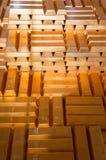 Pile di barre di oro Immagini Stock