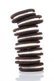 Pile di biscotti su fondo bianco Immagini Stock