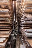 Pile di bordi di legno Immagine Stock