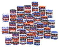 Pile di chip di mazza Immagine Stock Libera da Diritti