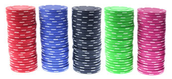 Pile di chip di mazza Fotografia Stock