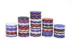 Pile di chip di mazza Fotografia Stock Libera da Diritti