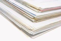 Pile di documenti di affari fotografia stock