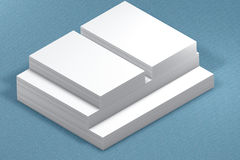 Pile di documento Modello alla presentazione Fotografie Stock Libere da Diritti