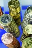 Pile di euro monete Immagine Stock