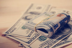 Pile di fotografia americana studio/dei soldi delle banconote degli Stati Uniti - Fotografia Stock Libera da Diritti