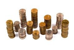 Pile di monete Fotografia Stock Libera da Diritti