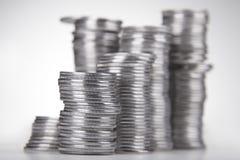 Pile di monete Fotografie Stock Libere da Diritti