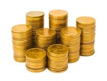 Pile di monete Immagini Stock Libere da Diritti