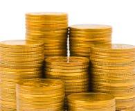 Pile di monete Fotografie Stock