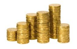 Pile di monete australiane Fotografia Stock Libera da Diritti