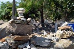 Pile di pietre Fotografia Stock Libera da Diritti